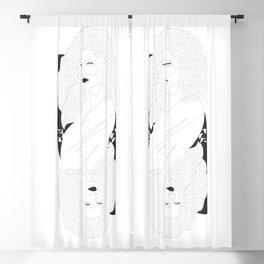 QC - Woman Line Art Blackout Curtain