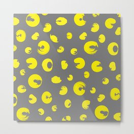 Yellow dotted pattern Metal Print
