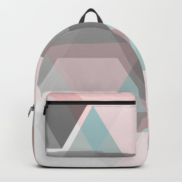 triangle abstract background Backpack