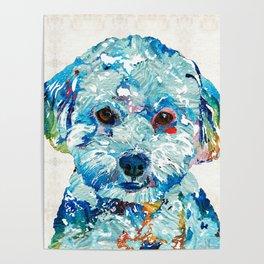 Small Dog Art - Soft Love - Sharon Cummings Poster