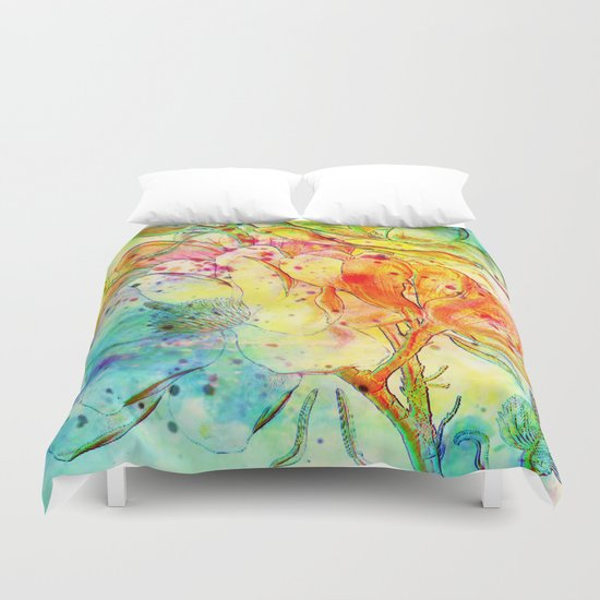 bright floral Duvet Cover
