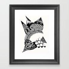 Sea Shell Creature Framed Art Print