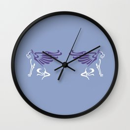 Myths & Monsters: Winged dog Wall Clock