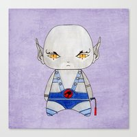 thundercats Canvas Prints featuring A Boy - Panthro (Thundercats) by Christophe Chiozzi