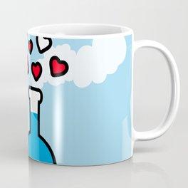 Blue and Red Laboratory Flask Coffee Mug