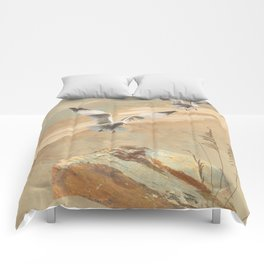 Gulf Coast Gulls Comforters