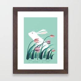 Rabbit, Resting Framed Art Print