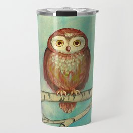 Blue Birch Owl Travel Mug