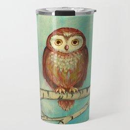 Blue Birch Owl Travel Mug