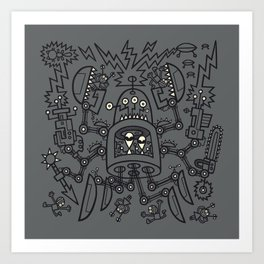 Evil Crabkillbot from Crab Nebula Against Humanity Art Print