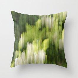 Green Hue Realm Throw Pillow