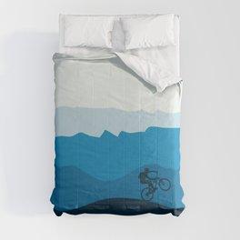 MTB Mountain Bike Cycling the Mountains Comforters