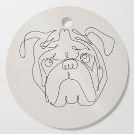 One Line English Bulldog Cutting Board