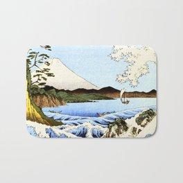Sea and waves at Satta  Suruga Hiroshige Bath Mat