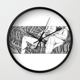 asc 790 - Le jeune démon (Dazzling young thing) Wall Clock