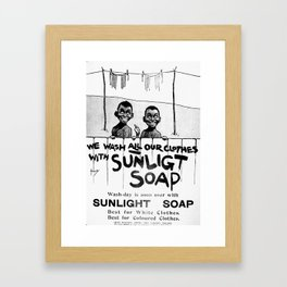 Wash-Day is Finally Over Framed Art Print