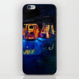 Boat Flotilla at Night at Octopus Island iPhone Skin