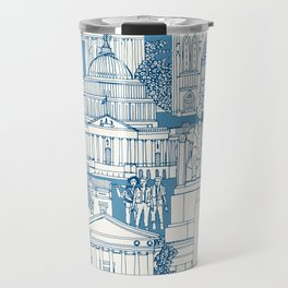 Washington DC toile blue Travel Mug