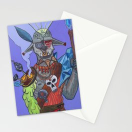 Digital Acid Orc Shaman Stationery Cards
