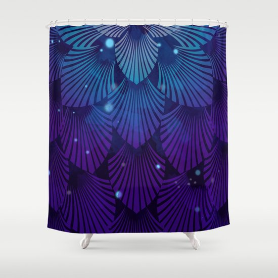 Variations on a Feather III - Raven Wing Deconstructed Shower Curtain