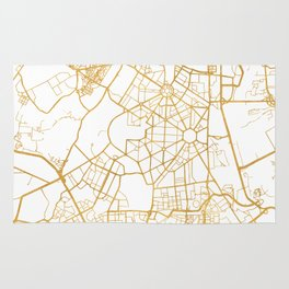 NEW DELHI INDIA CITY STREET MAP ART Rug