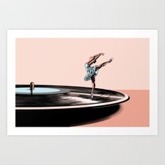 Dancing needle Art Print