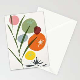 colorful zen garden Stationery Cards