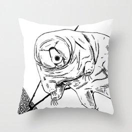 Water Bear Throw Pillow
