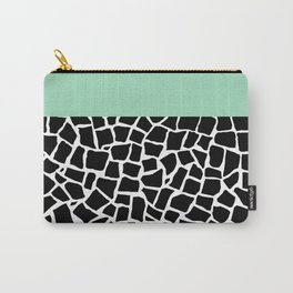 British Mosaic Mint Boarder Carry-All Pouch