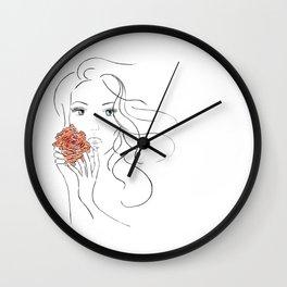 Beauty Blossom Wall Clock