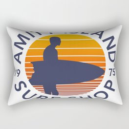 Amity Island Surf Shop Rectangular Pillow