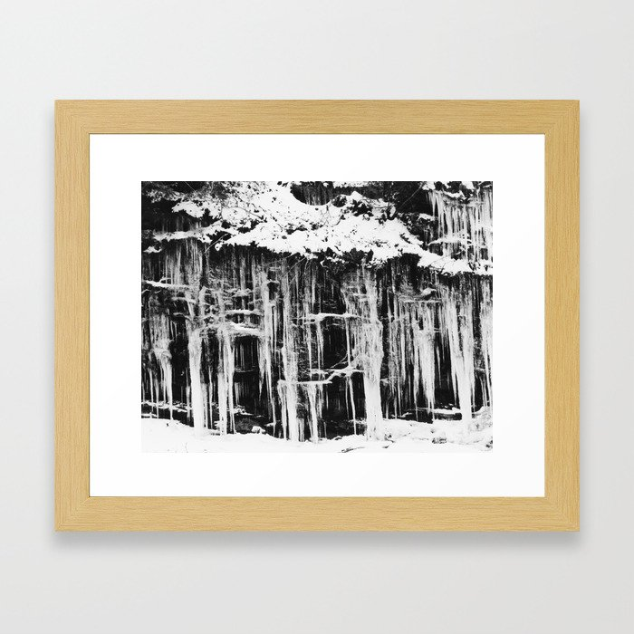 Miller's Creek Icicles Framed Art Print