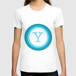 Blue letter Y T-shirt