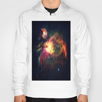 nebula Hoodies featuring Orion NEbula Dark & Colorful by 2sweet4words Designs