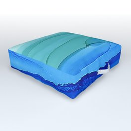Alcohol Ink Seascape Outdoor Floor Cushion