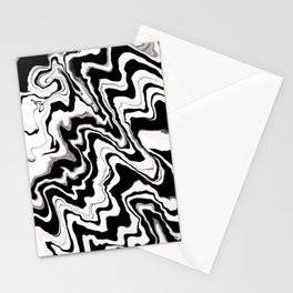 Zebra like pattern.Liquified,marble effect decor Stationery Cards