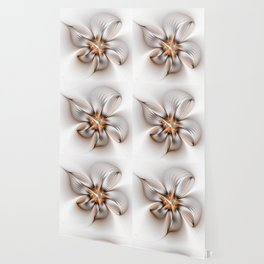 Elegance of a Flower, modern Fractal Art Wallpaper