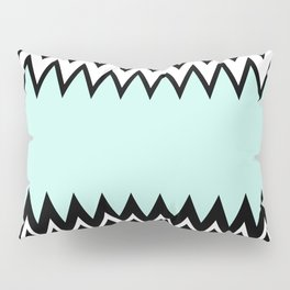 Modern black white teal stylish chevron pattern  Pillow Sham