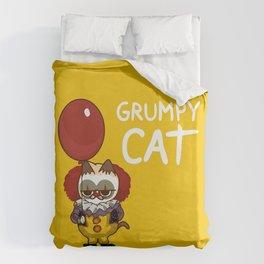 It Cat Clown  Funny Duvet Cover