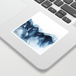 Abstract Indigo Mountains Sticker