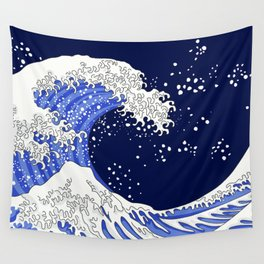 Great Blue Wave Wall Tapestry