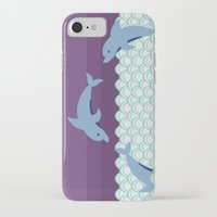 dolphins iPhone & iPod Cases featuring Dolphins by Eunice Wong