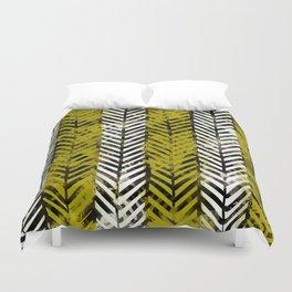 Yellow Herringbone Duvet Cover