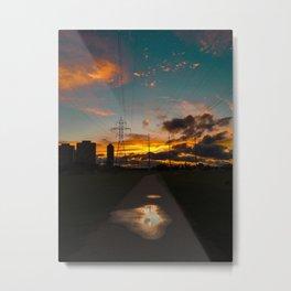 Electrifying Sunset Metal Print