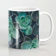 Succulent Blue Green Plants Mug
