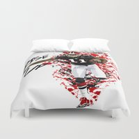nfl Duvet Covers featuring Julio Jones by MikeHanz