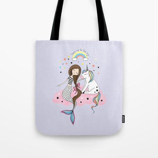 Mermaid & Unicorn by christineiris