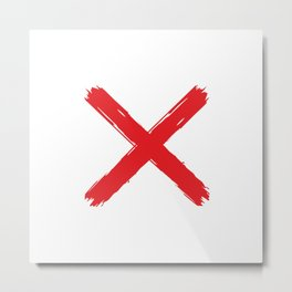 Red X on white background. #society6 #decor #buyart #artprint Metal Print