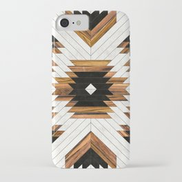 Urban Tribal Pattern 5 - Aztec - Concrete and Wood iPhone Case