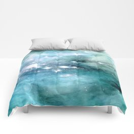 nEbulA Aqua Teal Sparkle Comforters